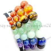 Natural-Reiki-Chakra-Gemstones-Round-Beads-Handmade-Adjustable-Bracelet-Healing-262784805350-2