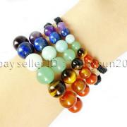 Natural-Reiki-Chakra-Gemstones-Round-Beads-Handmade-Adjustable-Bracelet-Healing-262784805350-4