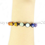 Natural-Reiki-Chakra-Gemstones-Round-Beads-Handmade-Adjustable-Bracelet-Healing-262784805350-5fb5