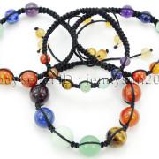 Natural-Reiki-Chakra-Gemstones-Round-Beads-Handmade-Adjustable-Bracelet-Healing-262784805350-7