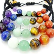 Natural-Reiki-Chakra-Gemstones-Round-Beads-Handmade-Adjustable-Bracelet-Healing-262784805350-9