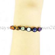 Natural-Reiki-Chakra-Gemstones-Round-Beads-Handmade-Adjustable-Bracelet-Healing-262784805350-9a79