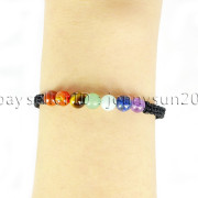 Natural-Reiki-Chakra-Gemstones-Round-Beads-Handmade-Adjustable-Bracelet-Healing-262784805350-fbbe