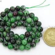 Natural-Ruby-In-Zoisite-Gemstone-Round-Beads-155039039-4mm-6mm-8mm-10mm-12mm-14mm-371423144208-c90c