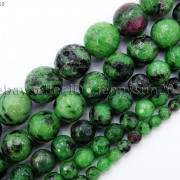 Natural-Ruby-Zoisite-Gemstone-Faceted-Round-Beads-155-4mm-6mm-8mm-10mm-12mm-262028492555