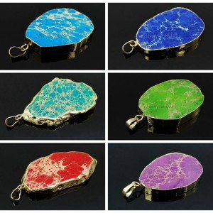 Natural-Sea-Sediment-Jasper-Gemstone-Nugget-Sliced-Necklace-Pendant-Charm-Gold-261862210560