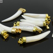 Natural-Shell-Mother-Of-Pearl-Bone-Horn-Tusk-Tooth-Pendant-Necklace-Charm-Beads-261849886115-2