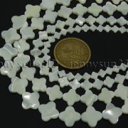 Natural-White-Mother-Of-Pearl-MOP-Shell-Clover-Spacer-Loose-Beads-Strand-16-262712114644-3