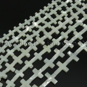 Natural-White-Mother-Of-Pearl-MOP-Shell-Cross-Spacer-Loose-Beads-Strand-16-282217316913-3