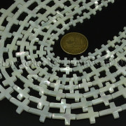 Natural-White-Mother-Of-Pearl-MOP-Shell-Cross-Spacer-Loose-Beads-Strand-16-282217316913-4