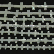 Natural-White-Mother-Of-Pearl-MOP-Shell-Cross-Spacer-Loose-Beads-Strand-16-282217316913-6