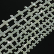 Natural-White-Mother-Of-Pearl-MOP-Shell-Cross-Spacer-Loose-Beads-Strand-16-282217316913-7