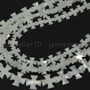 Natural-White-Mother-Of-Pearl-MOP-Shell-Cross-Spacer-Loose-Beads-Strand-16-282217316913-8