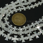 Natural-White-Mother-Of-Pearl-MOP-Shell-Cross-Spacer-Loose-Beads-Strand-16-282217316913-9