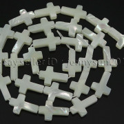 Natural-White-Mother-Of-Pearl-MOP-Shell-Cross-Spacer-Loose-Beads-Strand-16039039-282217316913-c170