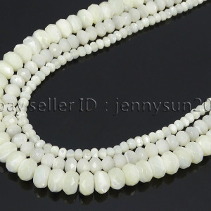 Natural-White-Mother-Of-Pearl-MOP-Shell-Faceted-Rondell-Beads-16-4mm-6mm-8mm-282186834458