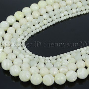 Natural-White-Mother-Of-Pearl-MOP-Shell-Faceted-Round-Beads-16-4mm-6mm-8mm-262612247345-2