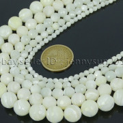 Natural-White-Mother-Of-Pearl-MOP-Shell-Faceted-Round-Beads-16-4mm-6mm-8mm-262612247345-3