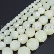 Natural-White-Mother-Of-Pearl-MOP-Shell-Faceted-Round-Beads-16-4mm-6mm-8mm-262612247345-4