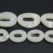 Natural-White-Mother-Of-Pearl-MOP-Shell-Oval-Donut-Spacer-Loose-Beads-155-262669361116-4