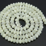 Natural-White-Mother-Of-Pearl-MOP-Shell-Rondell-Beads-155039039-4mm-6mm-8mm-10mm-371742323033-845c