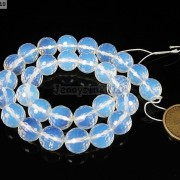 Natural-White-Opal-Gemstone-Faceted-Round-Beads-15039039-4mm-6mm-8mm-10mm-12mm-14mm-261318259874-f96d