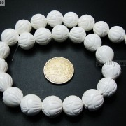 Natural-White-Tridacna-Carved-Lotus-Flower-Round-Beads-16039039-8mm-10m-12mm-14mm-370937645810-0cff