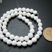 Natural-White-Tridacna-Carved-Lotus-Flower-Round-Beads-16039039-8mm-10m-12mm-14mm-370937645810-46ab