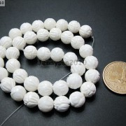 Natural-White-Tridacna-Carved-Lotus-Flower-Round-Beads-16039039-8mm-10m-12mm-14mm-370937645810-5671