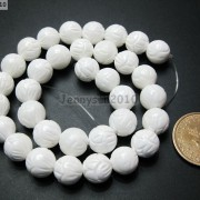 Natural-White-Tridacna-Carved-Lotus-Flower-Round-Beads-16039039-8mm-10m-12mm-14mm-370937645810-e10e