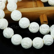 Natural-White-Tridacna-Carved-Rose-Flower-Round-Loose-Beads-16-8mm-10m-12mm-261324709468-2