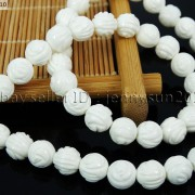 Natural-White-Tridacna-Carved-Rose-Flower-Round-Loose-Beads-16-8mm-10m-12mm-261324709468-3