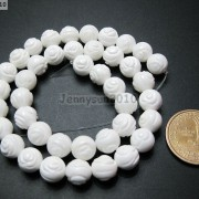 Natural-White-Tridacna-Carved-Rose-Flower-Round-Loose-Beads-16039039-8mm-10m-12mm-261324709468-7258