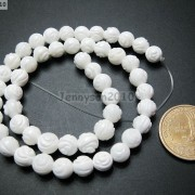 Natural-White-Tridacna-Carved-Rose-Flower-Round-Loose-Beads-16039039-8mm-10m-12mm-261324709468-f7d2