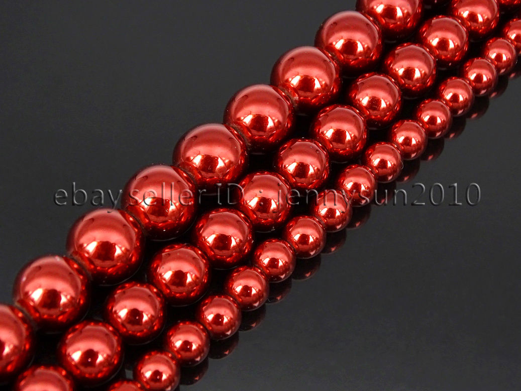 Red Hematite Beads Non Magnetic Me...