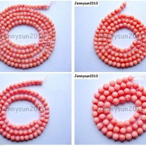 Pink-Natural-Coral-Gemstone-Round-Spacer-Beads-16-2mm-3mm-4mm-5mm-6mm-7mm-8mm-251083191765
