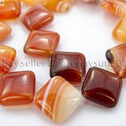 Red-Carnelian-Natural-Agate-Gemstone-Diagonal-Square-Loose-Beads-15-Strand-281162972188-2