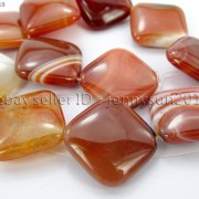 Red-Carnelian-Natural-Agate-Gemstone-Diagonal-Square-Loose-Beads-15-Strand-281162972188-3