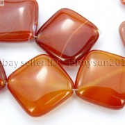 Red-Carnelian-Natural-Agate-Gemstone-Diagonal-Square-Loose-Beads-15-Strand-281162972188-6