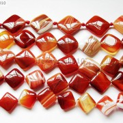 Red-Carnelian-Natural-Agate-Gemstone-Diagonal-Square-Loose-Beads-15-Strand-281162972188-7