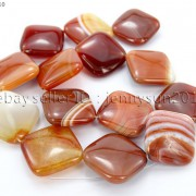 Red-Carnelian-Natural-Agate-Gemstone-Diagonal-Square-Loose-Beads-15039039-Strand-281162972188-c40b