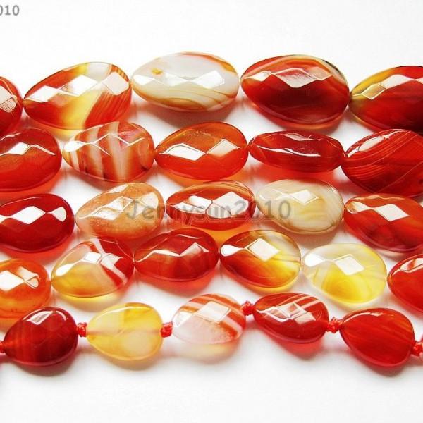 Red-Carnelian-Natural-Agate-Gemstone-Faceted-Flat-Teardrop-Loose-Beads-15-261280385485