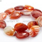 Red-Carnelian-Natural-Agate-Gemstone-Faceted-Flat-Teardrop-Loose-Beads-15039039-261280385485-62ff