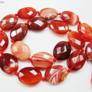 Red-Carnelian-Natural-Agate-Gemstone-Faceted-Oval-Loose-Beads-15039039-Inches-Strand-261278842495-a20b