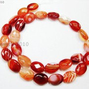 Red-Carnelian-Natural-Agate-Gemstone-Faceted-Oval-Loose-Beads-15039039-Inches-Strand-261278842495-baea