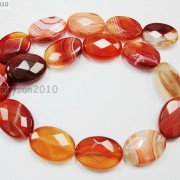 Red-Carnelian-Natural-Agate-Gemstone-Faceted-Oval-Loose-Beads-15039039-Inches-Strand-261278842495-daaf