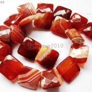 Red-Carnelian-Natural-Agate-Gemstone-Faceted-Square-Loose-Beads-15039039-Strand-261279559284-5e37
