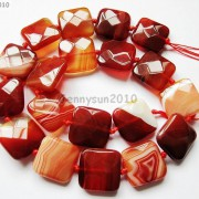 Red-Carnelian-Natural-Agate-Gemstone-Faceted-Square-Loose-Beads-15039039-Strand-261279559284-edf2