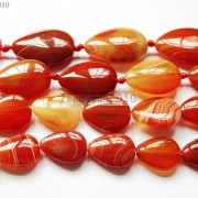 Red-Carnelian-Natural-Agate-Gemstone-Flat-Teardrop-Loose-Beads-15-Strand-261280412094-3