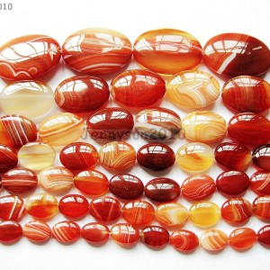 Red-Carnelian-Natural-Agate-Gemstone-Oval-Loose-Beads-15-Inches-Strand-261280456079